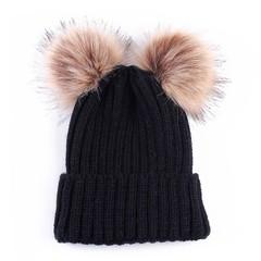 Winter Baby Girls Warm Hat Cap Beanie Kids Children Winter Warm Lovely Knitted Wool Hats Caps 12
