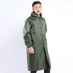 Raincoat Long Breathable Green Light Cover Rain Coat Men Windbreaker Poncho Hat Abrigo Hombre Wat