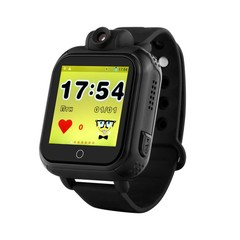 Smart 3G WCDMA Remote Camera GPS WIFI Location Tracker SOS Monitor1.54 Touch Screen Watch Wristwa Black English version