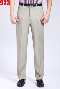 Suit Pants Men Length Classic Summer Grey Dress Pants Men Trousers Office Business Suit Pants Mal 923 beige 30