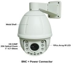 AHD/TVI/CVI/CVBS 6 inch HD 2MP 1080P 20X Zoom Analog Medium Speed Dome Camera Video CCTV Surveill