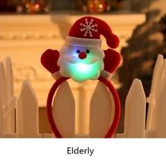 Cute Lightening Hair Band Xmas Decoration Lovely Christmas Gifts Santa Reindeer Snowman Bear LED