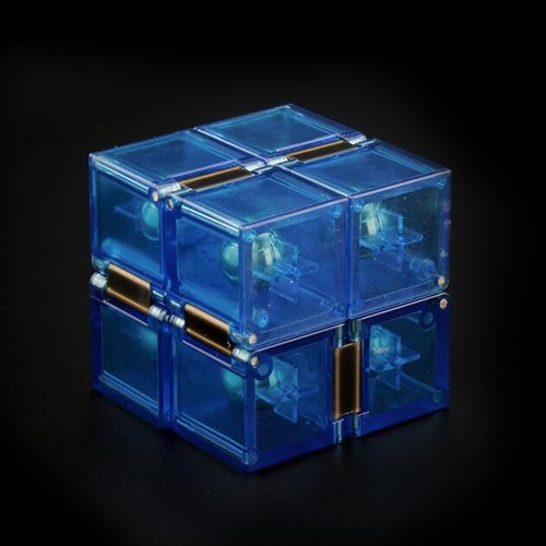 Toys Infinity Magic Cube Transparent Unlimited Decompression Puzzle Toy Antistress Rubiks Cubes D