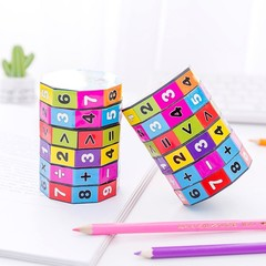 Classic Desk Set High Quality Speed Magic Cube Colorful Learning&ampEducational Puzzle  For Kids