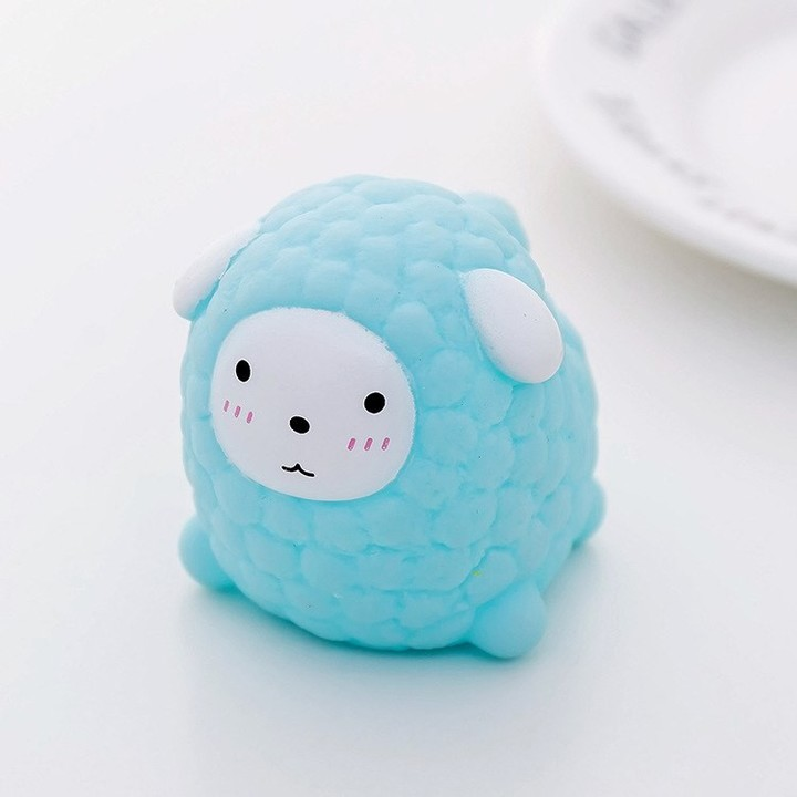 Japanese Creative Cute Little Animal Sheep Grey Pink Little Squeezing Pinch Pinch Girlish Heart V