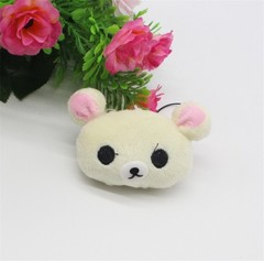 Cartoon Animals Plush Keychain Toys Small Stitch Totoro Bear Monkey Pink Pig Hello Kitty Rabbit K