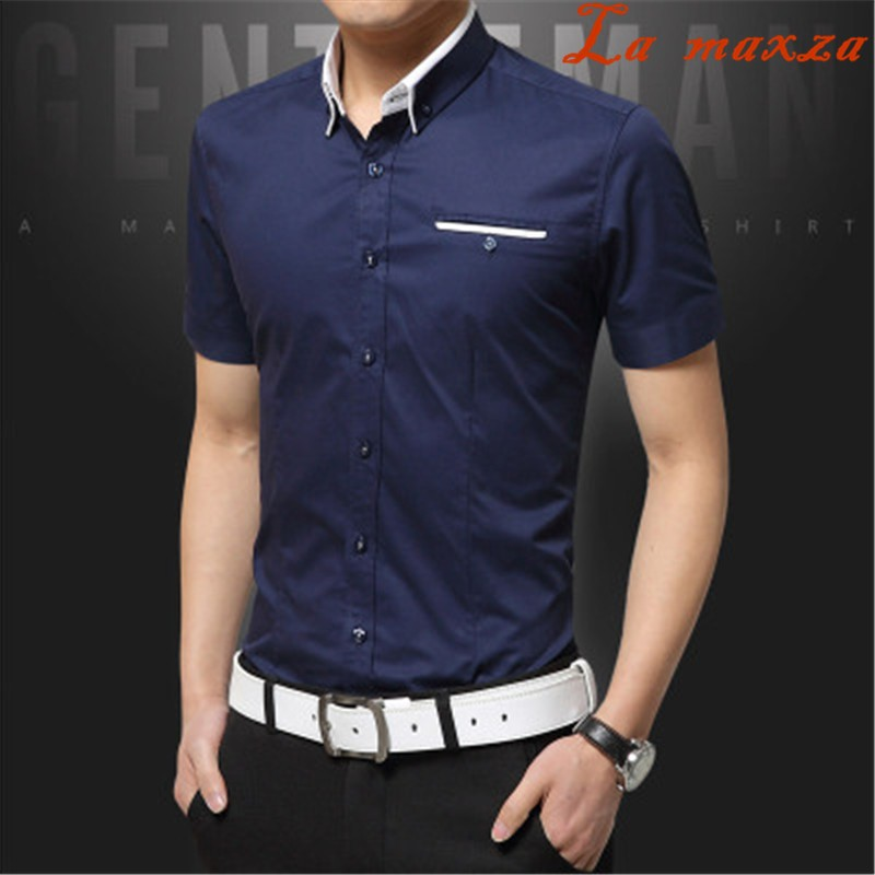 f01f7ba9835 Clothes 2018 Summer Short Sleeve Solid Color Business Casual Style Slim Fit Shirt  for Men  Product No  7969399. Item specifics  Seller SKU iOSlRhcFJvp ...