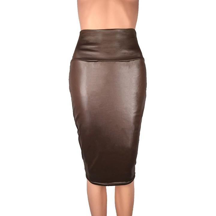 08d476171953 S-3XL Sexy Multi Color Suede Midi Pencil Skirt Women 2018 Fashion Elastic  High Waist
