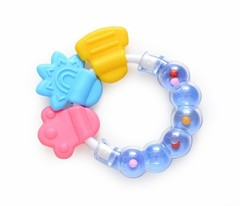 Rattle Teether Baby Teether Necklace Silicone Toys Teething Baby Care Acessorios Mordedor Bijtrin