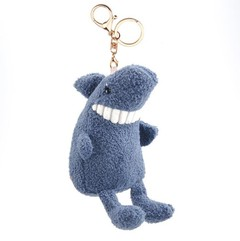 Double iron buckle Smile toothy Animal plush pendant toy doll mini cute clamshell doll plush keyc