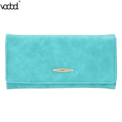 PU Women Card Bag Long Wallet Vintage Carteira Feminina Coin Purse Ladies Money Box Case Card Hol