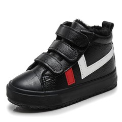 Winter Children Shoes for Boys Snow Boots Flat Waterproof Shoes Plus Warm Girls Ankle Leather Boo