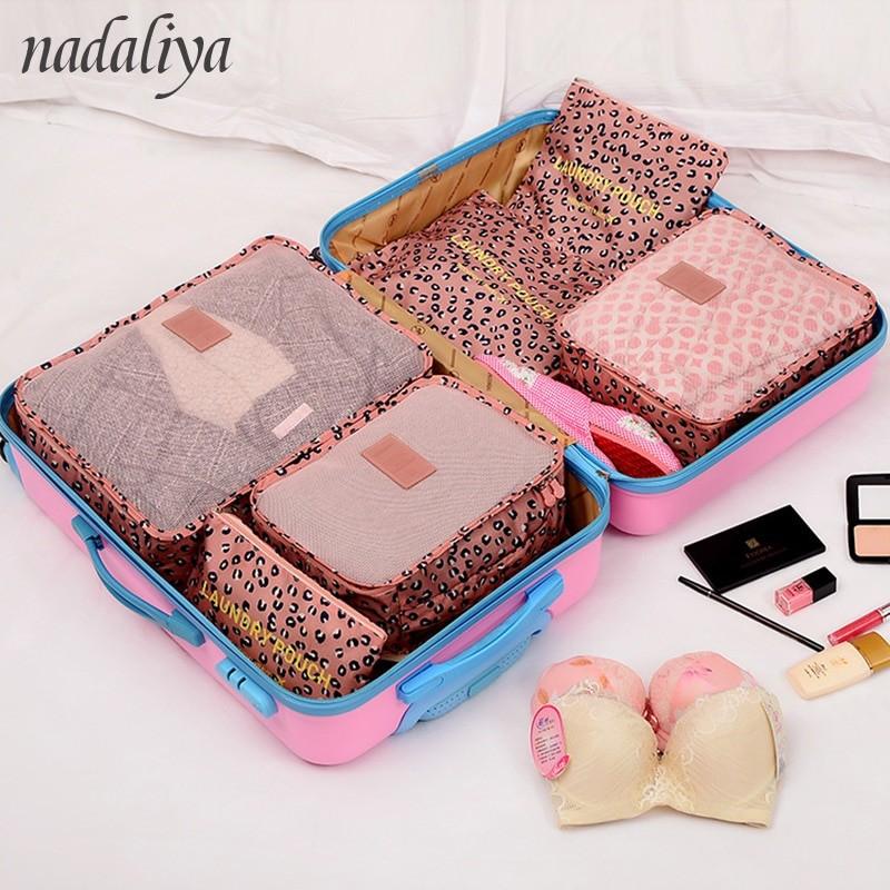 2821bb9ad85b Item specifics  Seller SKU gwKsYMdwRDA  Brand  nadaliya new 6PCS Set High  Quality Oxford Cloth Travel Mesh Bag In Bag Luggage Organizer Packing Cube  ...