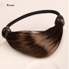 Korean Wig  Hair Ponytail Holders Plaits Hair Circle Manual Twist Rubber Headband Styling makeup