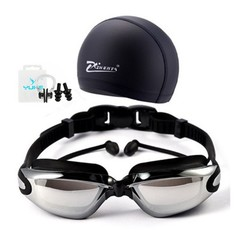 Professional Swimming Goggles Anti-Fog UV Adjustable Plating men women Waterproof soft silicone g