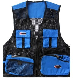 Outdoor Fly Fishing Vest Jacket Breathable Fast Drying Multi Pocket Mesh Waistcoat Photography Ja