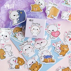 Kawaii Stationery Sticker Cute Flower language Pattern Notes School Supplies Christmas Stickers T