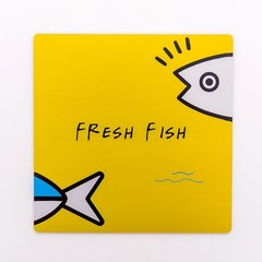 Fashion Simple Colors Carttoon Fish PVC Mouse Pad Mat Non-slip Pad For School Office Supplies Stu