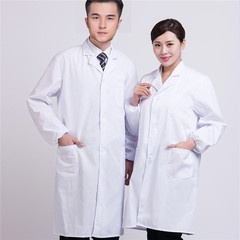 White Lab Coat Doctor Hospital Scientist School Uniform Costume Cosplay for Students Adults Unise