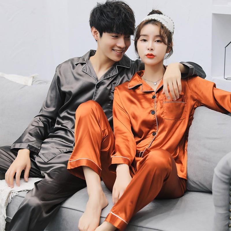 5af41d6ca22e Pajamas Suits Top and Pants Pajama Sets Couple Men Plus Size Autumn ...