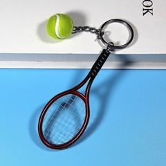 Metal Tennis Racket Handmade Souvenir Cute Tenis Racquet Ball Key-chain Key Sports Chain Car Bike
