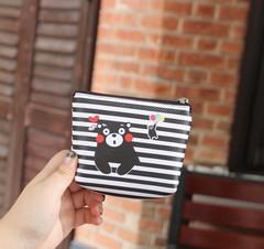 Pcs Kawaii Boys Girls Cartoon Anime Kumamon Black White Cute Bear Coin-Purse PU Bag With Statione