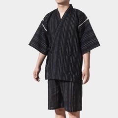 winter black vintage japanese men kimono haori traditional male warrior yukata halloween costume