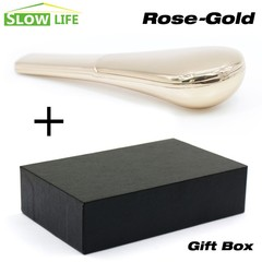 Fashion Spoon Smoking Pipe Portable Metal Herb Accessories With Magnets Gift Box Packing Hidden H