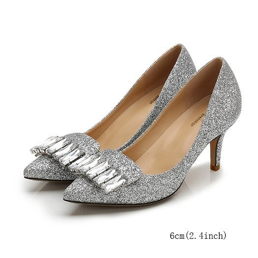 bc6699efa96 Ultra Stiletto Silver Rhinestone Heels Crystal High Sequin Pointed Toe  Pumps Ladies Extreme 8cm D  Product No  8171056. Item specifics  Seller ...