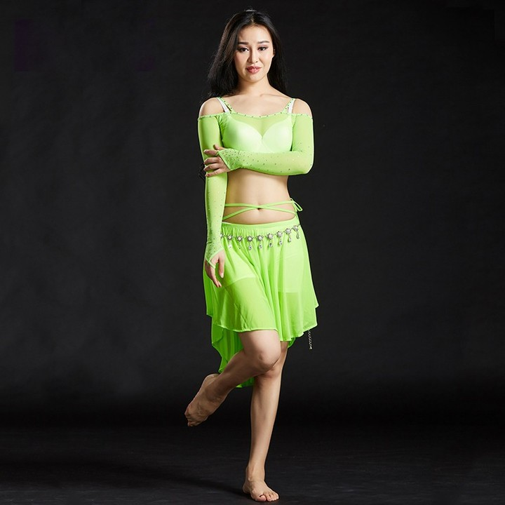 c5fbb0aa9 Belly Dance Clothes Practice Women Dance Costume 2 pieces Set Off Shoulder Belly  Dance Dresses fo