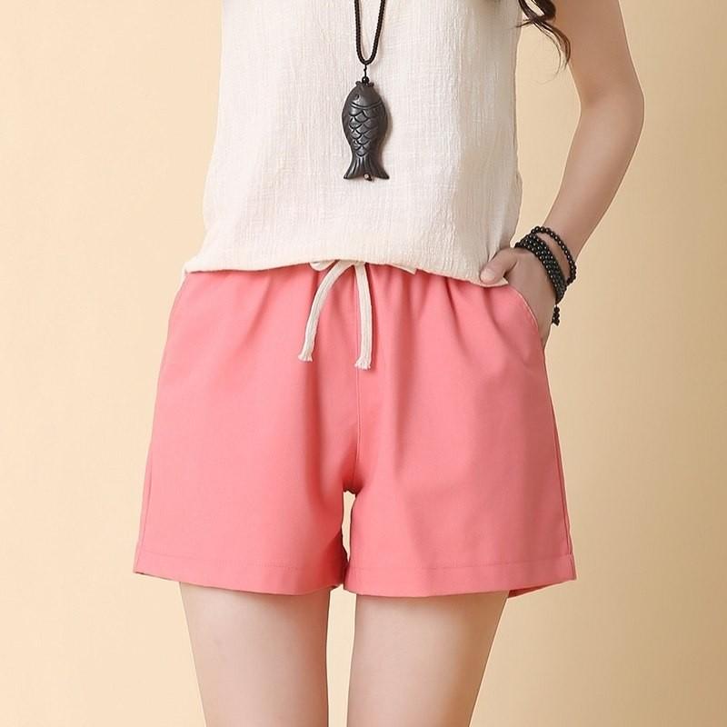 994fb669443 Item specifics  Seller SKU buCvrvelAaJ  Brand  LFF 2018 Women Fashion Brand  Summer Korean Style Cotton Linen Loose Elastic Shorts ...