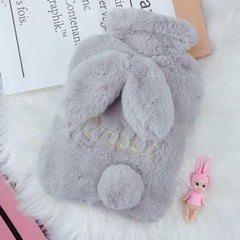 Creative Cute CartoonPortable Rabbit Hot Water Bottle Bag Safe And Reliable High-quality Washable