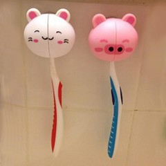 Cartoon Animal Cute Sucker Plastic Toothbrush Holder Delicate Suction Accessories