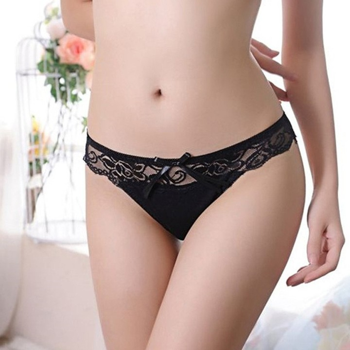 a49822c5a79 New Women Fashion Women Women Lace Panties Bowknot Underwear Transparent  Comfort Breathable Thong