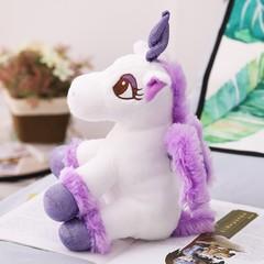 30cm 6 Patterns Kawaii Unicorn toy Keychain Plush unicorn key pendant Fine trumpet doll Exquisite