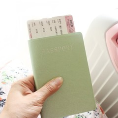 Solid Color Passport Cover Card Storage Holder Portable Card Bag for Travel Business Bank ID Card