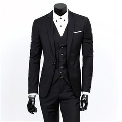 Color Single Breasted Mens Suit Jackets with Suits Vests and Suit Trousers 9 Color Choice Busines