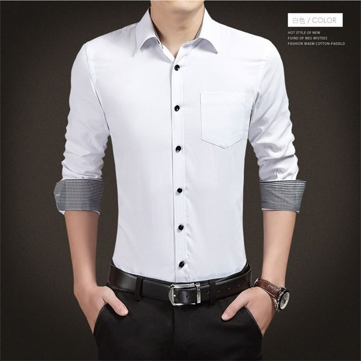 d25f324e6d7 Size 4XL 5XL 2018 Summer Korean Style Formal Smart Casual Dress Shirt  Fashion Men Slim Clothes