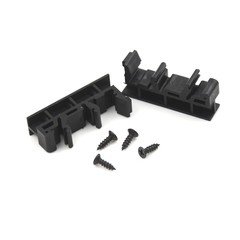 PCB DIN C45 Black Green 2pcs adapter+4 screws Whosesale Rail Mounting Adapter Circuit Board Brack