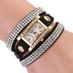 Fashion Womens watches Girls Analog Quartz Wristwatch Ladies Dress Bracelet Watches Vintage diamo