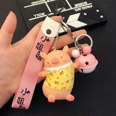 creative cartoon pig Keychain for Men Women Bag Phone Car Pendant Key Chain Porte Clef keyring