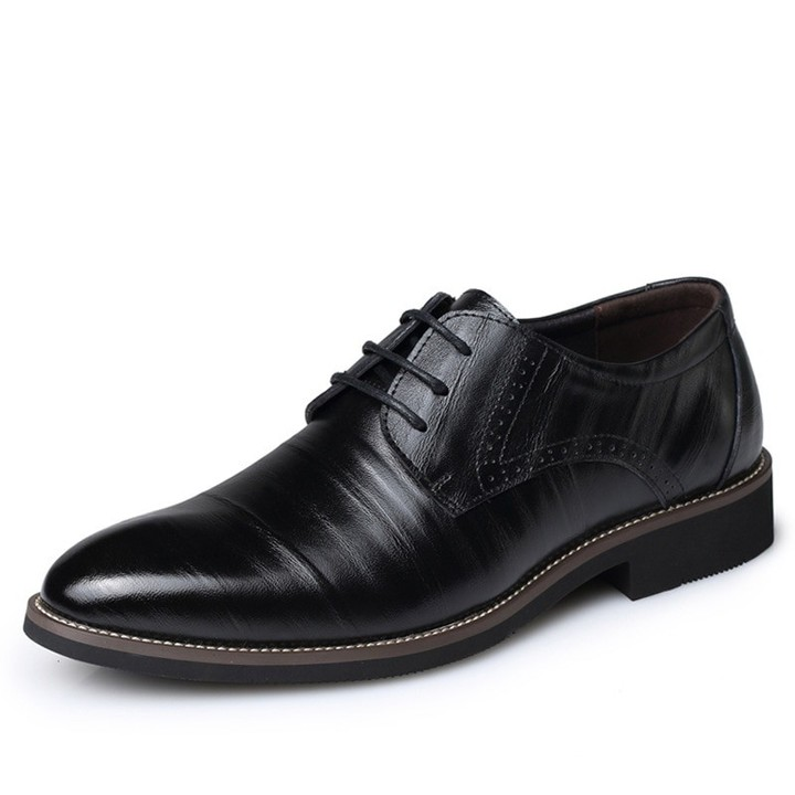 b69d14961c71a9 Big Size 37-48 Oxfords Leather Men Shoes Fashion Casual Pointed Top Formal  Business Male