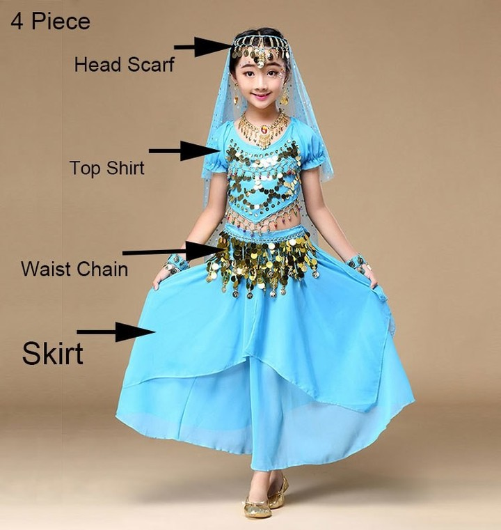 868792856 Children Professional Stage Belly Dance Costume For Girl Egypt BELLY ...