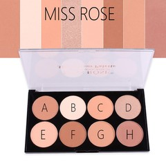 ROSE 8 Color Cream Camouflage Concealers Palette Cosmetic Makeup Cottect 2018 Step.13