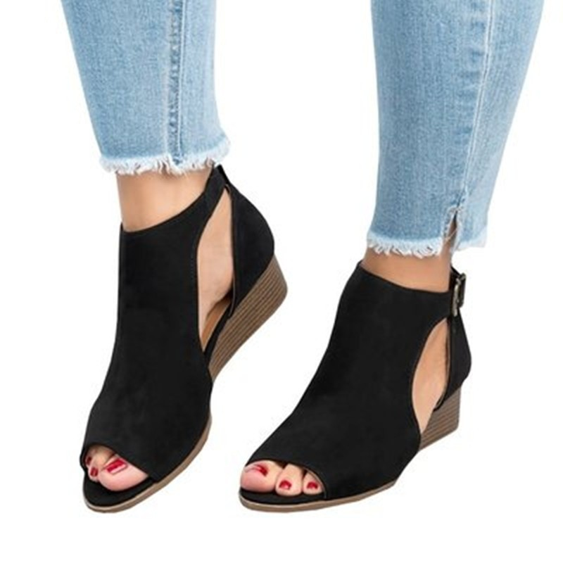 7044c21d5 Fashion Wedge Sandals Lady Suede Leather Shoes Female Casual Buckle  Footwear  Product No  8362206. Item specifics  Seller SKU LorFaUgKAB0   Brand