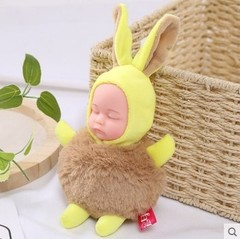 sleeping doll Pendant lovely Sleeping doll Creative Plush doll Bag pendant Girl gift Keychain