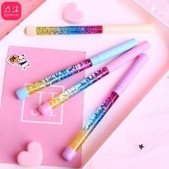 colours drift sand crystal pen crystal ball pen liquid quicksand creative little fairy pen