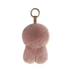 Genuine Real Mink Fur Plush Fluffy Furry Fox Keychain Pompom Animal Key Chain Women Bag Charm Bag