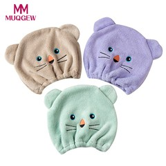 NEW Good Breathability Microfiber Hair Turban Quickly Dry Hair Hat Wrapped Towel Cap Wrapped Towe
