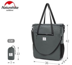 Foldable Lightweight Silicon Tote Bag Water-resistant Sport Bag Crossbody Bags 18LNH18B500-B